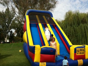 Inflatable Slide at Wedding