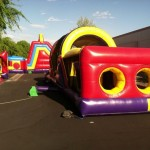 Inflatable obstacle-courses 4th of july