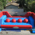 inflatable obstacle course Ballistic wipe out theme